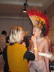 backstage at Charlie Le Mindu, AW11 On|Off